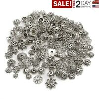 Wholesale Lot Mixed Tibetan Silver Flower Bead Caps For Jewelry Making DIY US aa