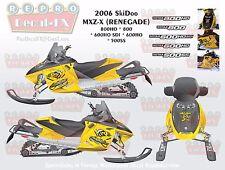 2006 Ski-Doo MXZ X 800 600 500 HO SS SDI RENEGADE 550F FAN BEE Vinyl Decals Sled