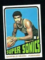 NM 1972 Topps Basketball #98 Garfield Heard RC.