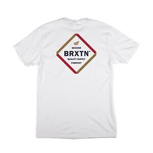 BRIXTON PEABODY S/S TEE SHIRT WHITE