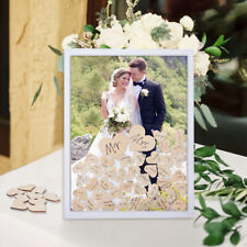 Personlised Wooden Wedding Guest Book Frame Signing Dropbox 80 Heart Party Decor