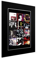 More details for mounted / framed print duran duran discography   rock pop poster gift artwork