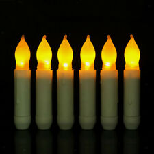 Flickering Flame Candles Real Wax Battery Powered Led Church Ivory 115mm A