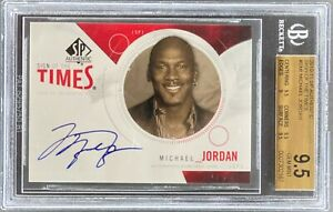 2010-11 SP AUTHENTIC SIGN OF THE TIMES MICHAEL JORDAN AUTO BGS 9.5 GEM MINT [CS]