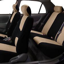 Beige Black Car Seat Covers for Sedan SUV Truck Van Car