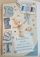 Husband Birthday Card Embossed With Sentiment Verse