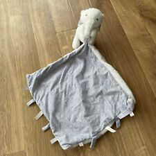Mamas & And Papas Comforter - Archie Elephant Blanket Blankie Soft Toy Vgc grey