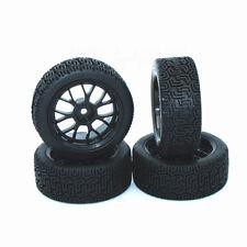 RC 1/10 Car Rubber Tyre 12mm Black Mesh Rar Wheels for RC On-Road Tires