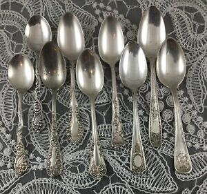 Set of Eight Fancy Art Nouveau/NeoClassical Demitasse/Coffee Spoons