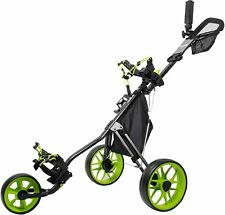 3 Wheel Push Buggy by Caddytek / Incontro Sports - Black/Green