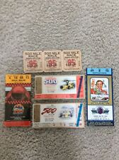 MISCELLANEOUS GROUP OF INDY RACING TICKETS INDIANAPOLIS 500 INDY 200 WALT DISNEY