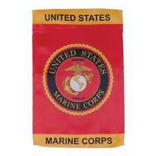 Us Marine Corps Usmc Garden Flag Double Sided Licensed
