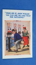 Vintage Comic Postcard 1920s What The Butler Saw Mutoscope Pier Penny Arcade