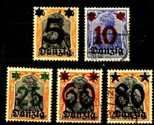 Memel 1922 Surcharged Issues Complete Set of 43 Postally Used Scott's 50 to 92