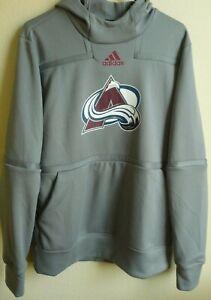 NHL Adidas Colorado Avalanche Hockey Hooded Sweatshirt Pullover M NWT GI5277