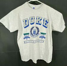 Vtg Duke University Blue Devils T Shirt Mens Large Made In USA Russell Gray