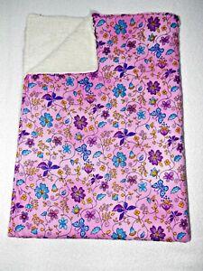 Babydecke ♥ Zweilagige Decke ♥ Kinderwagendecke ♥ Blumen ♥ handmade