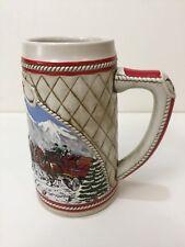 Budweiser Clydesdale Ceramarte Christmas Holiday Stein Mug 1985