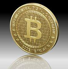 BITCOIN Münze ,Sammelmünze, Medaille, echt vergoldet, Mining, nur bei uns