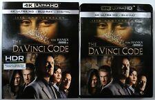 THE DA VINCI CODE 4K ULTRA HD UHD BLU RAY 3 DISC SET + SLIPCOVER SLEEVE 10TH ANN