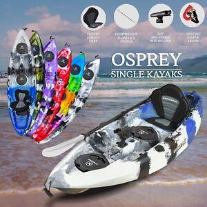 2.7M Fishing Kayak Sit on Top Single + Seat Paddle Package Perth Blue Canoe