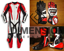 Motorcycle Ducati Corse K1 Cowhide leather suit CE Armour Motorbike MotoGP Set