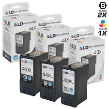 LD REMAN Lexmark 44XL & 43XL Ink Set of 3 for X4850, X4875, X4975, X7550, Z1520