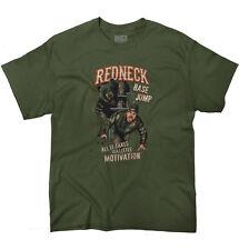 Redneck Base Jump Funny Shirt | Bear Motivation USA Southern T Shirt