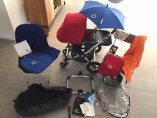 Bugaboo Cameleon Red/Orange/Black Travel System Single Seat Stroller