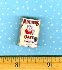 Dollhouse Miniature Size Vintage 1901 Mothers Oats Box