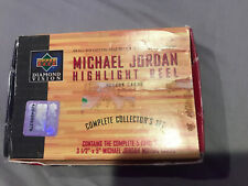 1997-98 Upper Deck Diamond Vision Jordan Highlight Reel Motion Card Boxed Set!