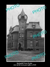 OLD LARGE HISTORIC PHOTO OF SPRINGHILL NOVA SCOTIA CANADA, THE POST OFFICE c1920