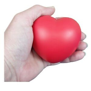 Hand Exercise Finger Relax Heart Stress Ball Squeeze Relief Adults Physio Toys