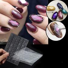 Diamond Nail Stencil Guides Mould Transparent Sticker Mold DIY Manicure Tool