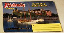 Vintage fold-out photo portfolio postcard featuring Victoria, B.C. Canada