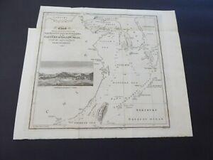 ANTIQUE MAP 1818 KOREA JAPAN CHINA FORMOSA EASTERN YELLOW SEAS OKINAWA LEWCHEW