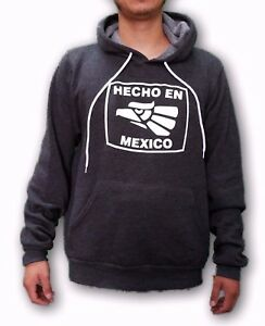 Hecho en Mexico Men's Gray Pullover Hoodie Sweatshirt Size Small to 2XL
