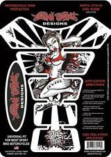 LETHAL THREAT Motorcycle Bike Gel Tank Pad Protector Sticker GIRL BOMB LT70119