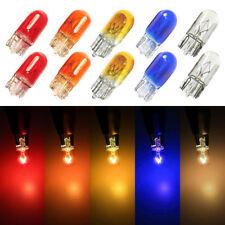 10xT10 Wedge Halogen W5W 501 194 168 Light Bulbs Car Red Amber Yellow Blue White