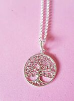 925 sterling silver pendant necklace chain om Buddha many hearts tree of life
