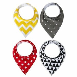 Baby Bandana Drool Bibs 100% Cotton 4 Pack Gift Set For Boys and Girls