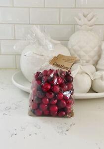 crate and barrel cranberry vase filler