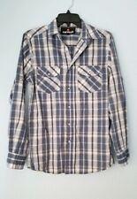 Airwalk Mens Long Sleeved Blue striped Button Down Dress Shirt ~ Small