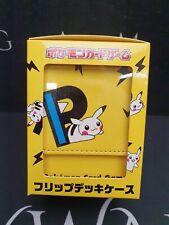 More details for pikachu p premium deck box - japan pokemon center (new/sealed)