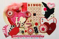 Valentine Love Themed Ephemera Pack Goodie Grab Bag Scrapbooking Junk Journal