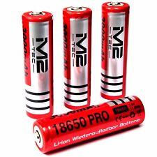 4 x M2 Tech Pro 3000 mAh Lithium - Ionen Akku 3,7 V / 11,8 Wh Typ 18650 je 37 g