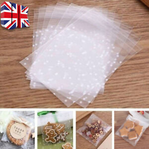 100x Cellophane Bags Party Cello Cookie Candy Biscuit Packaging Gift Bag 10*10cm