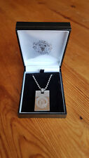 MANCHESTER UNITED NECKLACE - STAINLESS STEEL - BOXED - EXCELLENT CONDITION