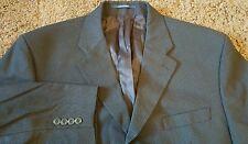 Men's Bachrach 100% Wool Blue Suit Jacket Microcheck 44R 3 Button Sport Coat EUC