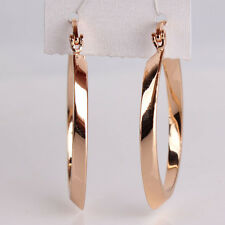 Charm Woman earring 18k gold filled Snap Closure antique hoop wedding earring